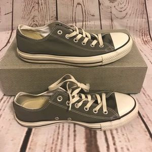 Gray Converse All Star Shoes Size 10